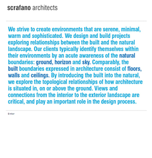 Scrafano Architects Website